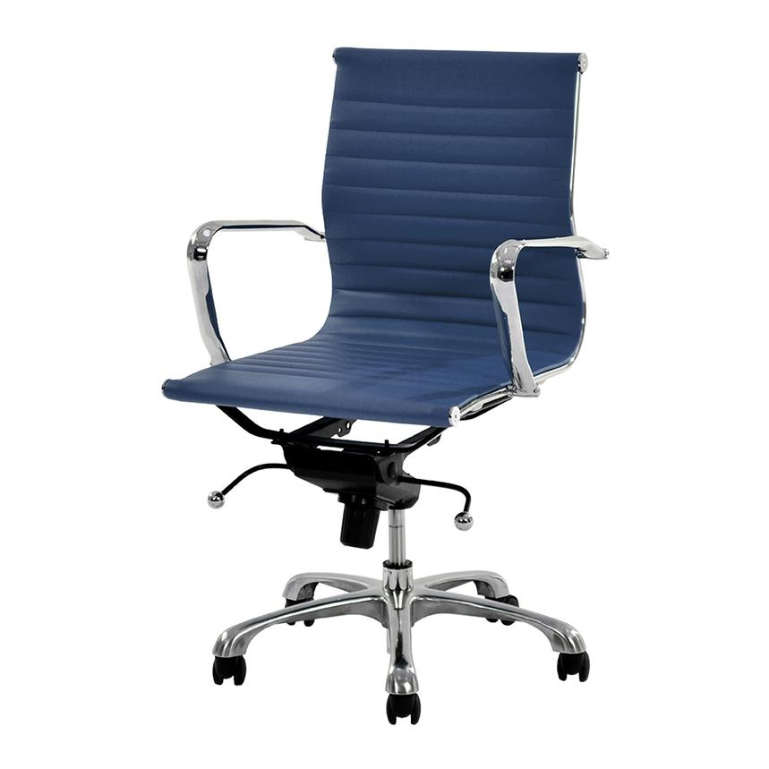 Watson Blue Low Back Desk Chair  alternate image, 2 of 6 images.
