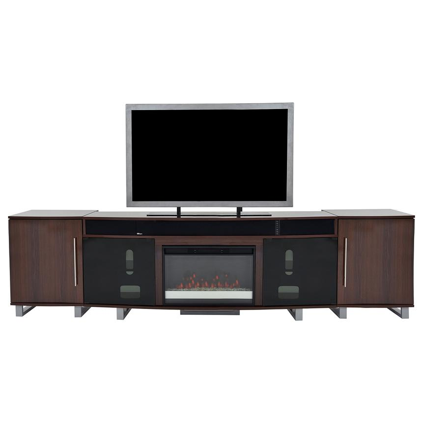 Enterprise Walnut Faux Fireplace w/Speakers  main image, 1 of 6 images.