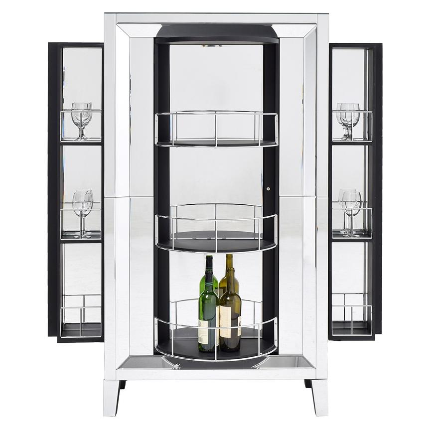 Amia Mirrored Bar Cabinet El Dorado Furniture