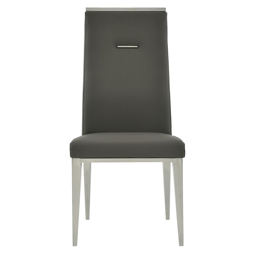 Hyde I Dark Gray Side Chair  main image, 1 of 8 images.