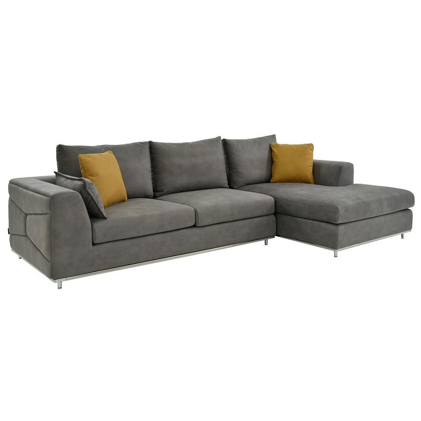 Grigio Sectional Sofa w/Right Chaise  main image, 1 of 5 images.