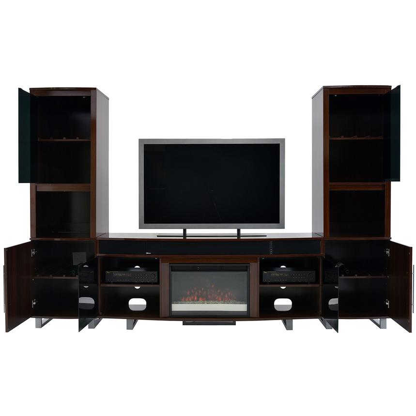 Enterprise Walnut Wall Unit w/Speakers  alternate image, 2 of 6 images.