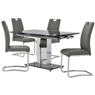 Antonia/Lila Gray 5-Piece Casual Dining Set