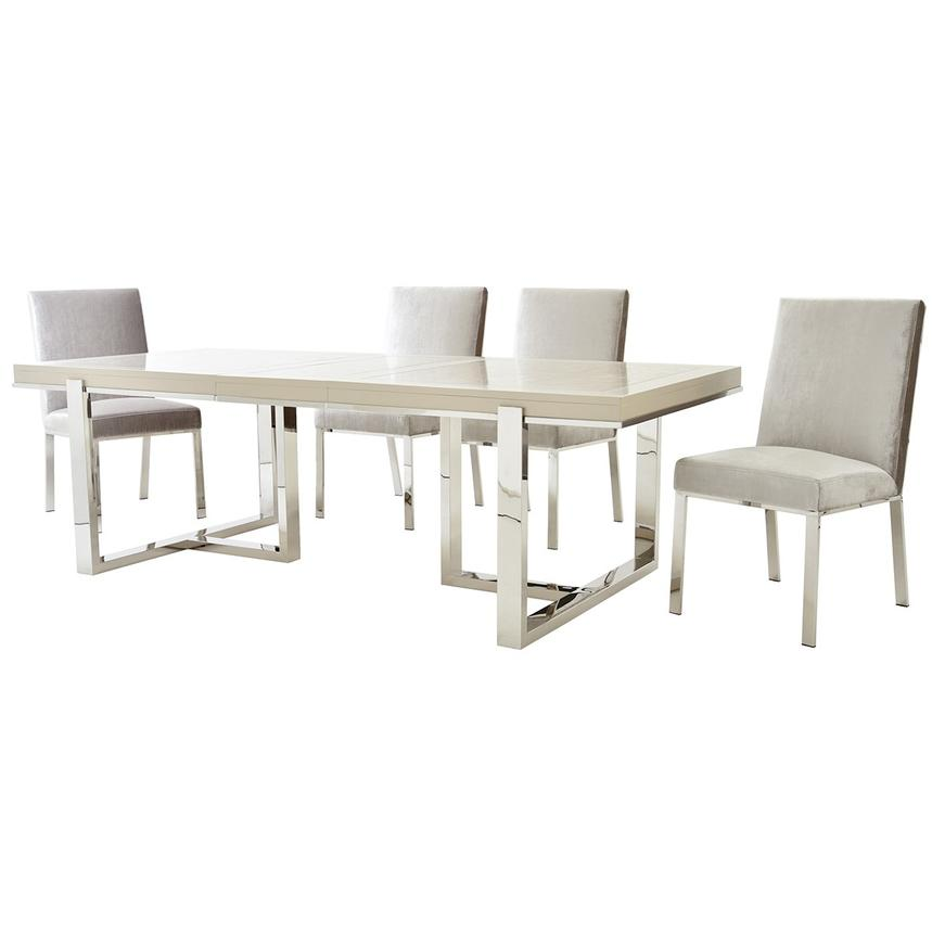 Cydney/Wellington Gray 5-Piece Formal Dining Set  alternate image, 2 of 12 images.