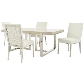 Cydney/Wellington Silver 5-Piece Formal Dining Set