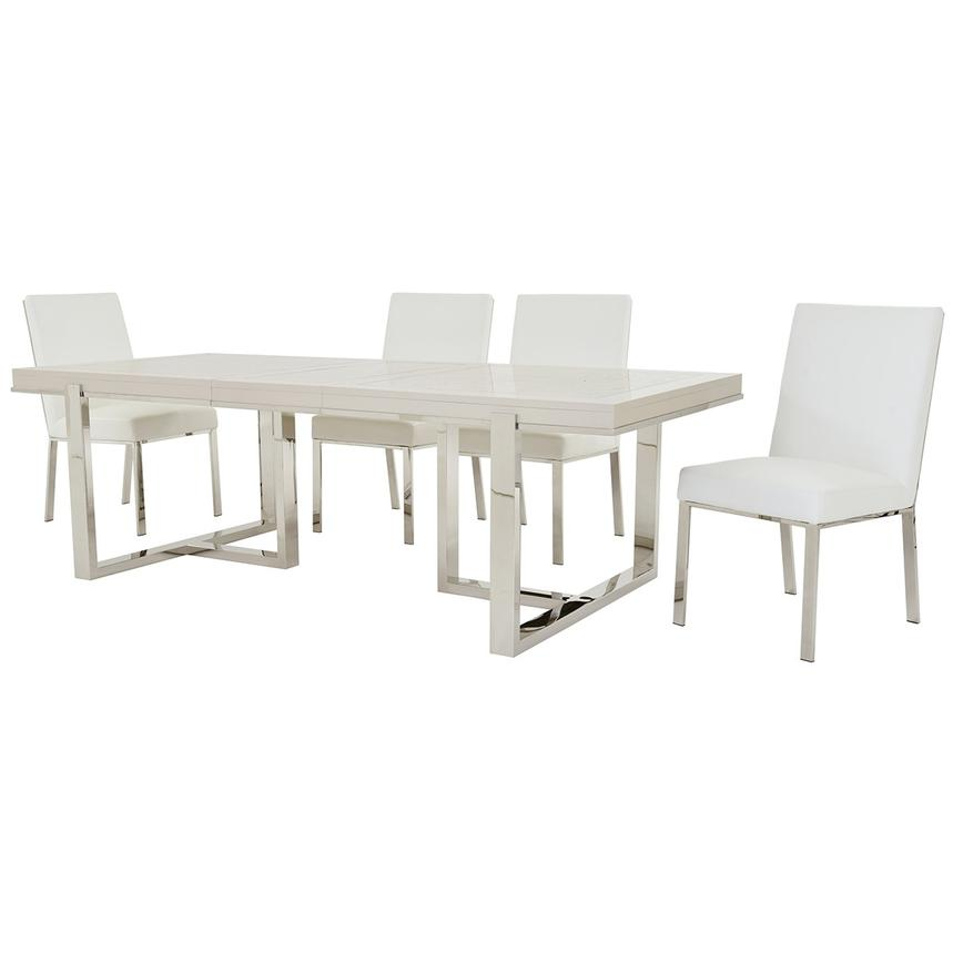 Cydney/Wellington Silver 5-Piece Formal Dining Set  alternate image, 2 of 12 images.