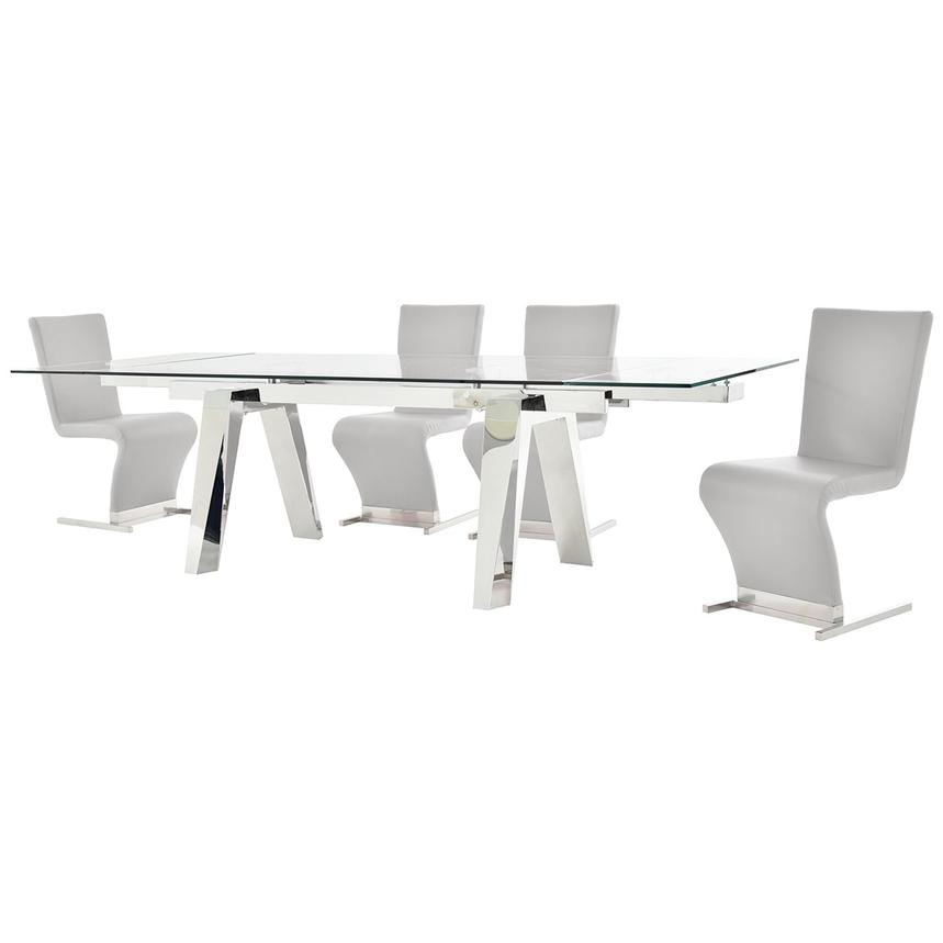 Madox/Zoey White 5-Piece Formal Dining Set  alternate image, 2 of 12 images.