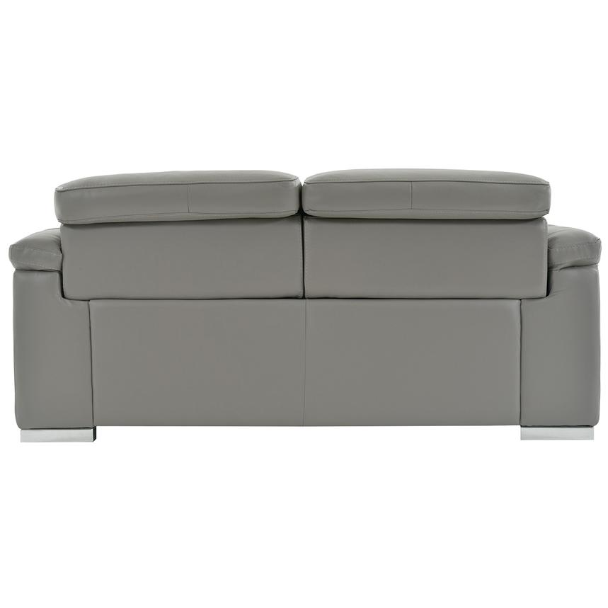 Charlie Gray Leather Power Reclining Loveseat  alternate image, 6 of 9 images.