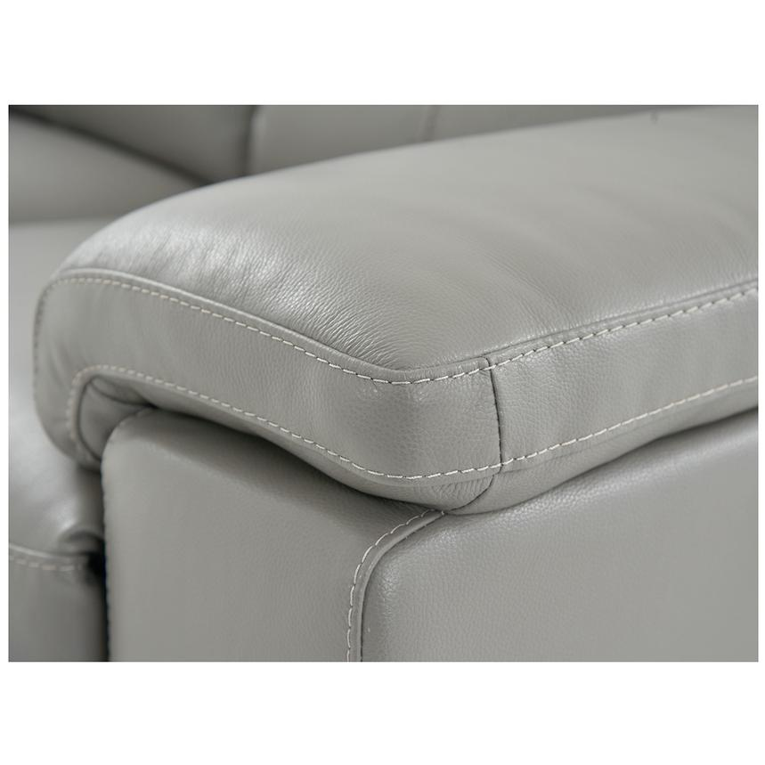 Charlie Gray Leather Power Reclining Loveseat  alternate image, 6 of 7 images.