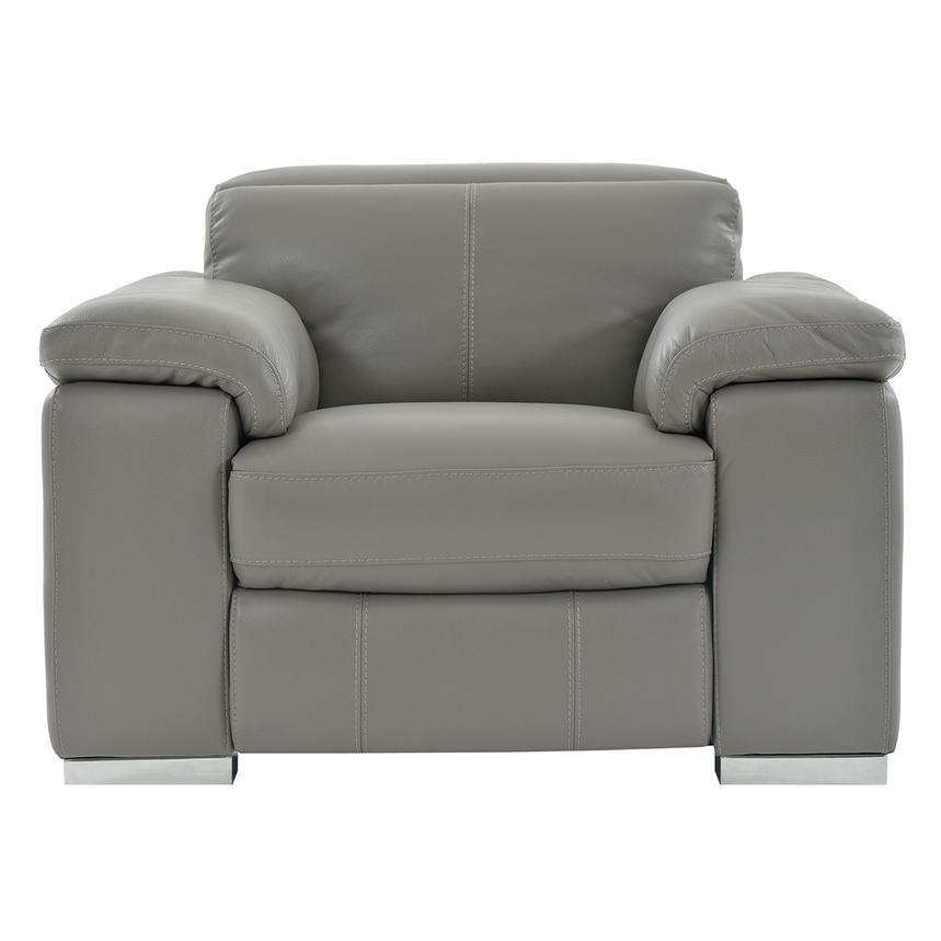 Charlie Gray Power Motion Leather Recliner  main image, 1 of 7 images.