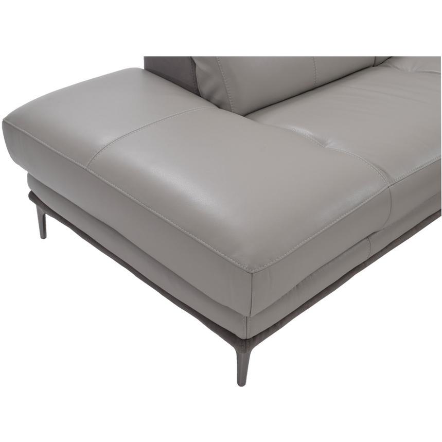 Richardson Leather Power Reclining Sofa W Left Chaise El