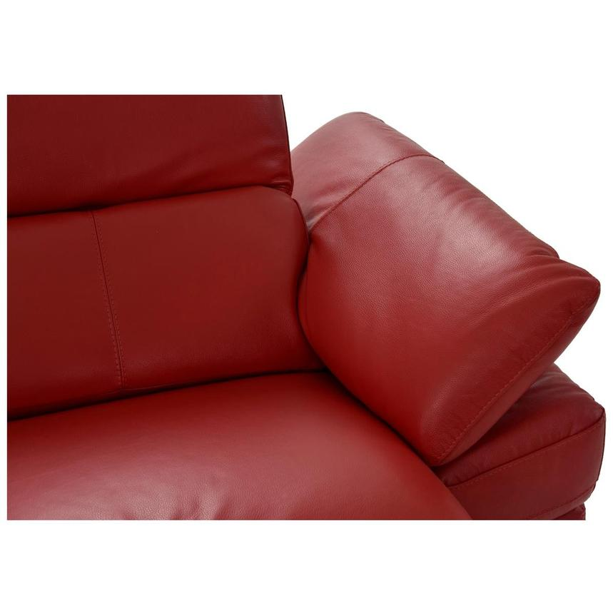 Toronto Red Leather Power Reclining Sofa w/Left Chaise  alternate image, 7 of 13 images.