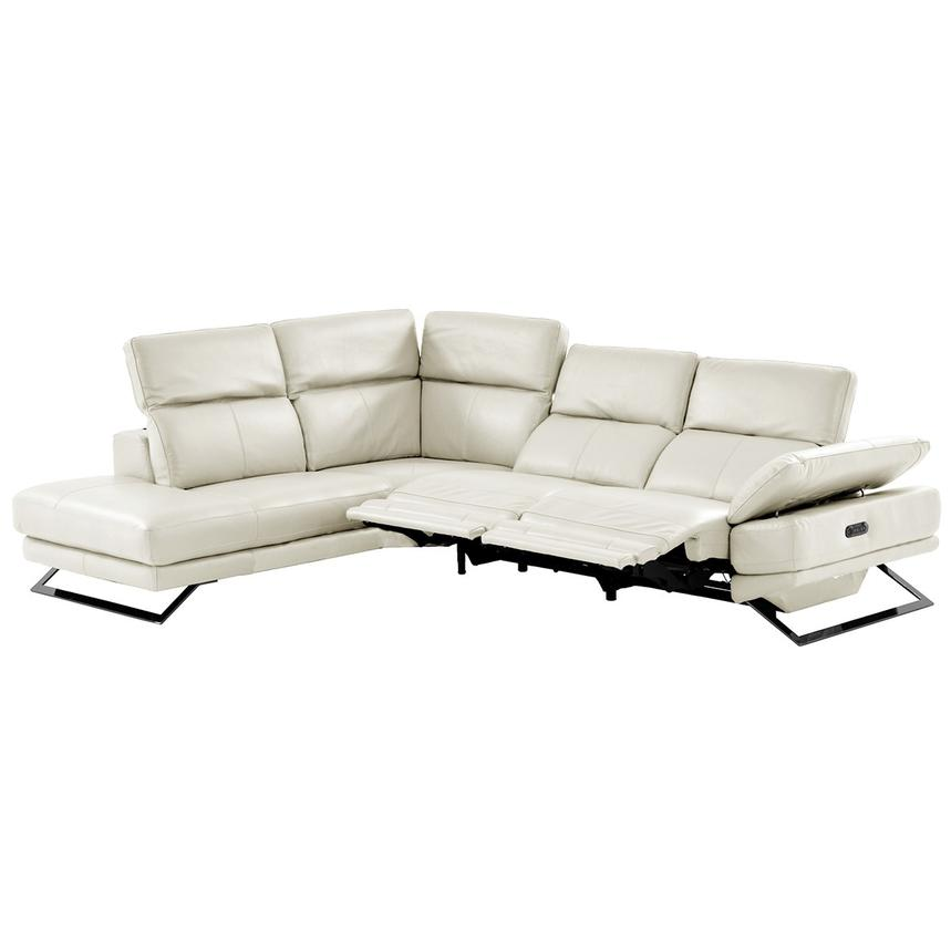 Toronto White Power Motion Leather Sofa w/Left Chaise  alternate image, 2 of 11 images.