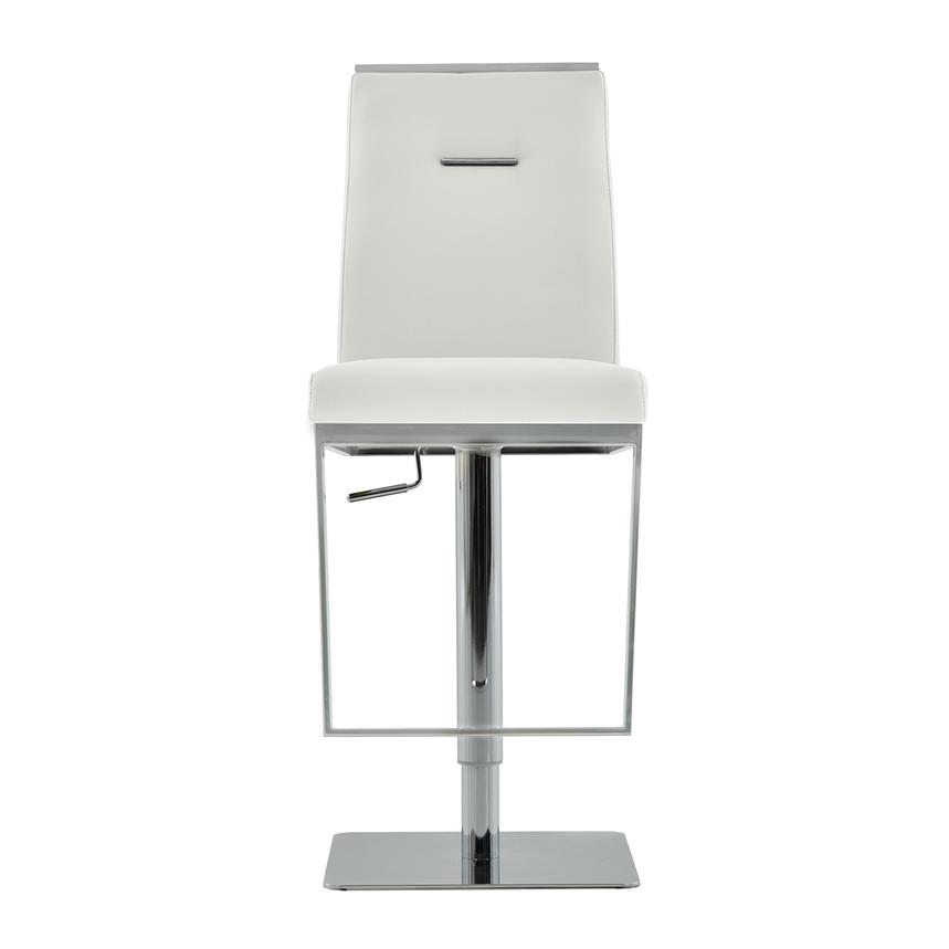 Hyde White Adjustable Stool  main image, 1 of 6 images.