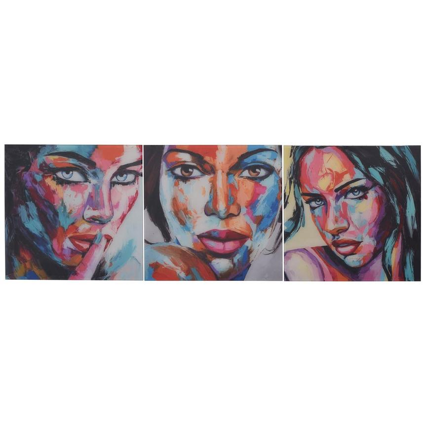 Beaute Set of 3 Acrylic Wall Art  main image, 1 of 5 images.