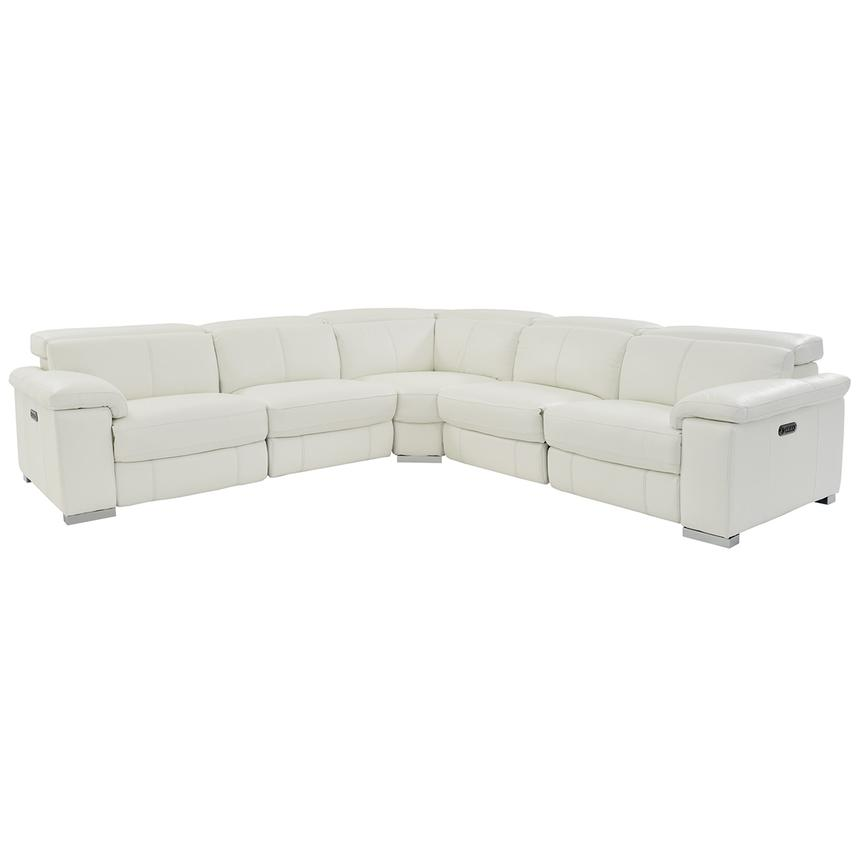Charlie White Power Motion Leather Sofa w/Right & Left Recliners  main image, 1 of 8 images.