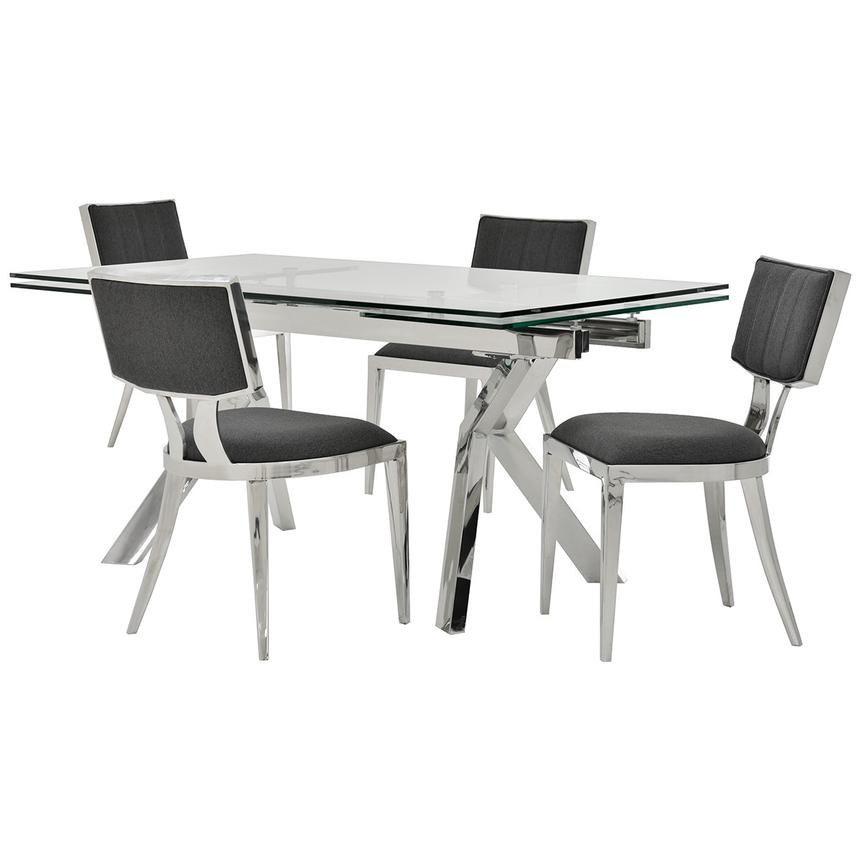Lynne Clear/Martina II 5-Piece Dining Set  main image, 1 of 13 images.