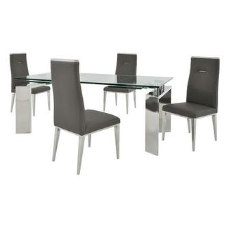Melsar/Hyde Gray 5-Piece Formal Dining Set