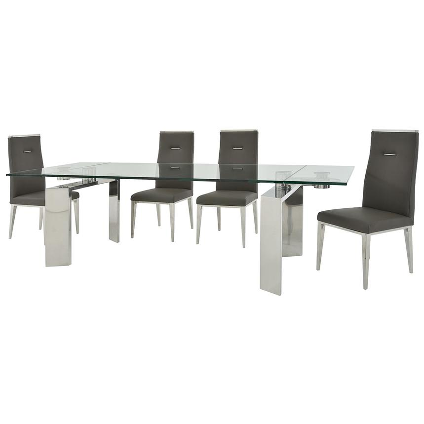 Melsar/Hyde Gray 5-Piece Formal Dining Set  alternate image, 2 of 15 images.