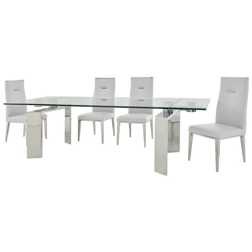 Melsar/Hyde White 5-Piece Formal Dining Set  alternate image, 2 of 15 images.