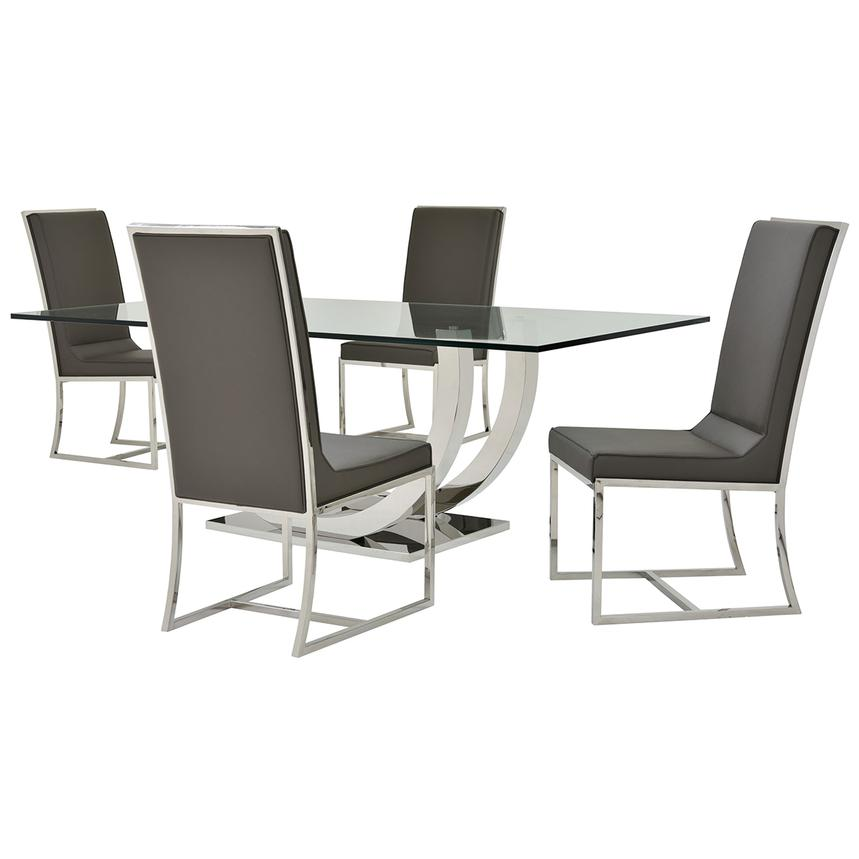 Ulysis/Sofitel Gray 5-Piece Formal Dining Set  main image, 1 of 11 images.