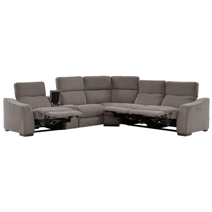 Jameson Dark Gray Power Motion Sofa w/Right & Left Recliners  alternate image, 2 of 9 images.