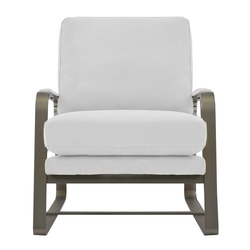 Isa White Accent Chair  main image, 1 of 6 images.