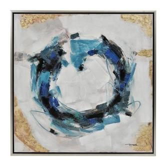 Cercle Bleu Canvas Wall Art