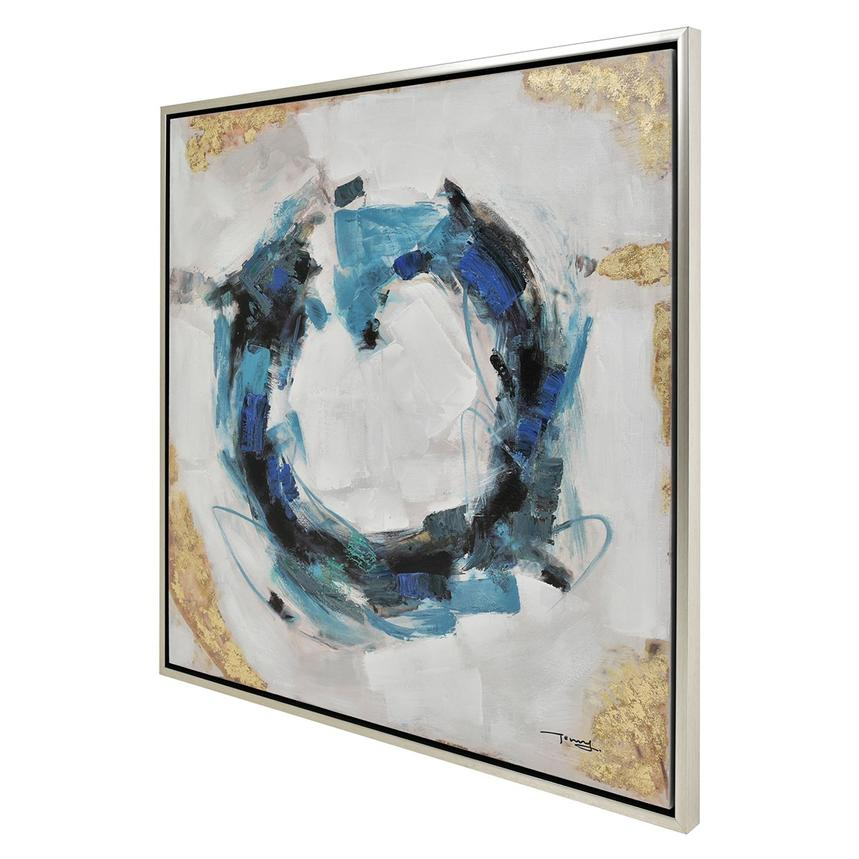 Cercle Bleu Canvas Wall Art  alternate image, 2 of 3 images.
