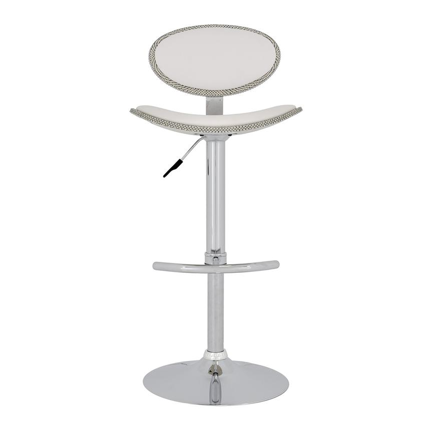 Noe White Adjustable Stool  alternate image, 2 of 5 images.