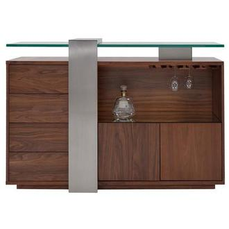 Totem Walnut Bar Cabinet