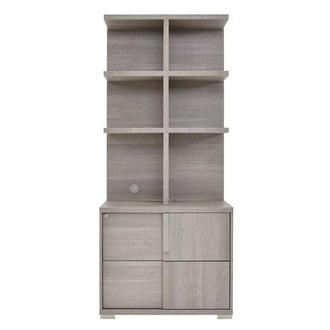 Tivo Gray Lateral File Cabinet w/Hutch