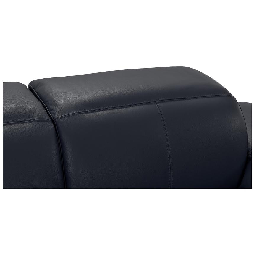 Toronto Dark Gray Power Motion Leather Sofa w/Left Chaise  alternate image, 6 of 9 images.