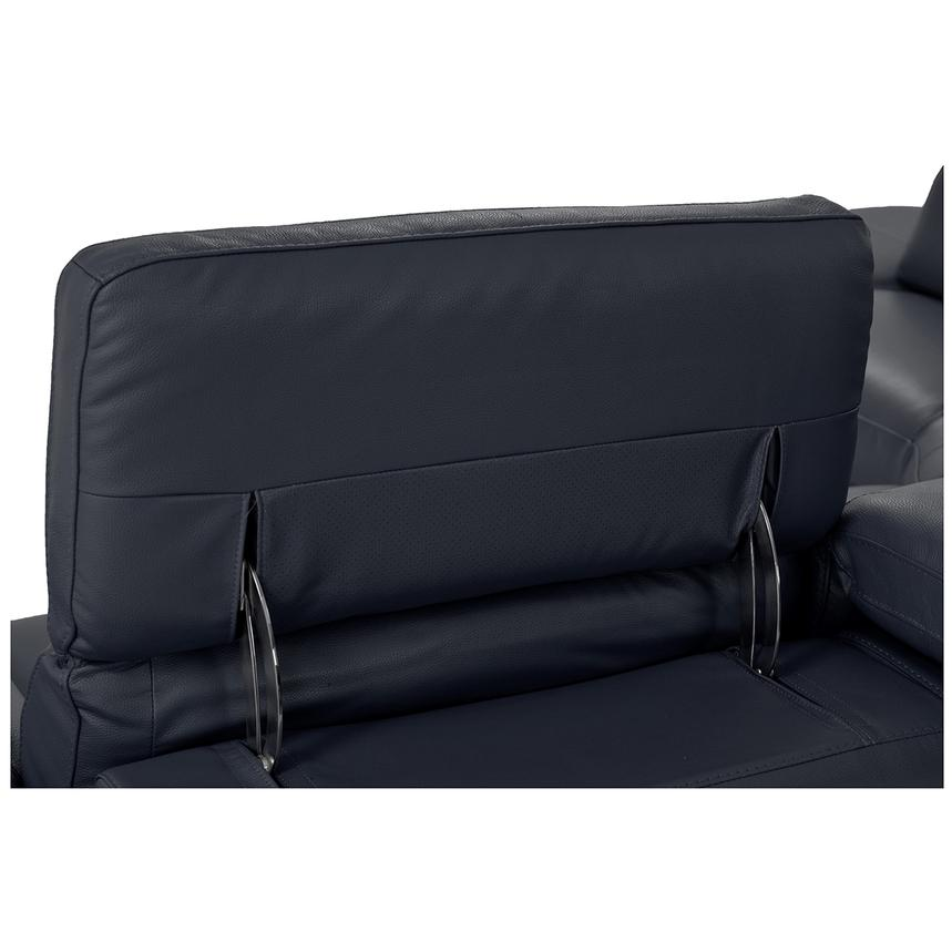 Toronto Dark Gray Power Motion Leather Sofa w/Left Chaise  alternate image, 7 of 9 images.