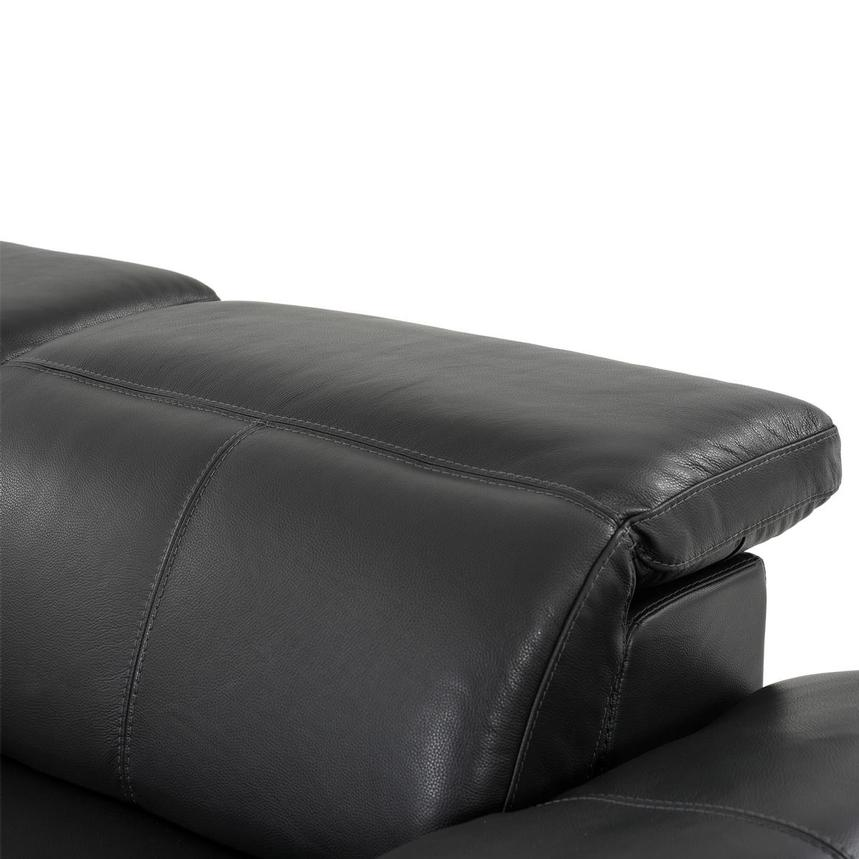Toronto Dark Gray Leather Power Reclining Sofa w/Left Chaise  alternate image, 6 of 10 images.
