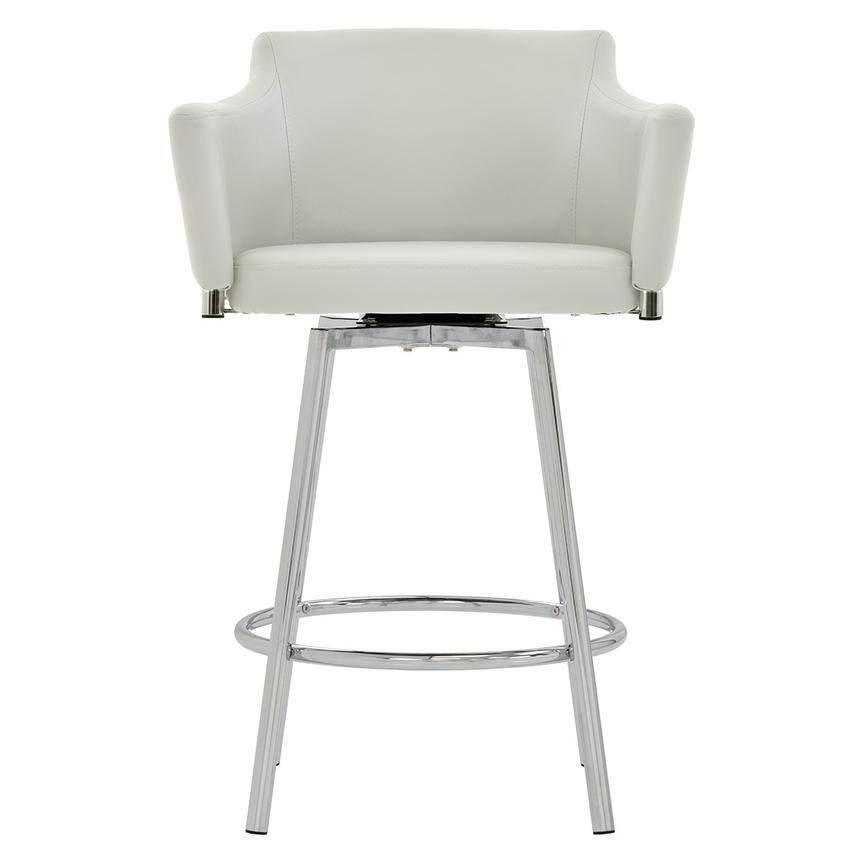 Dusty White Swivel Counter Stool Main Image 1 Of 6 Images