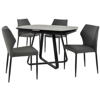 Adelle/Zari Gray 5-Piece Casual Dining Set
