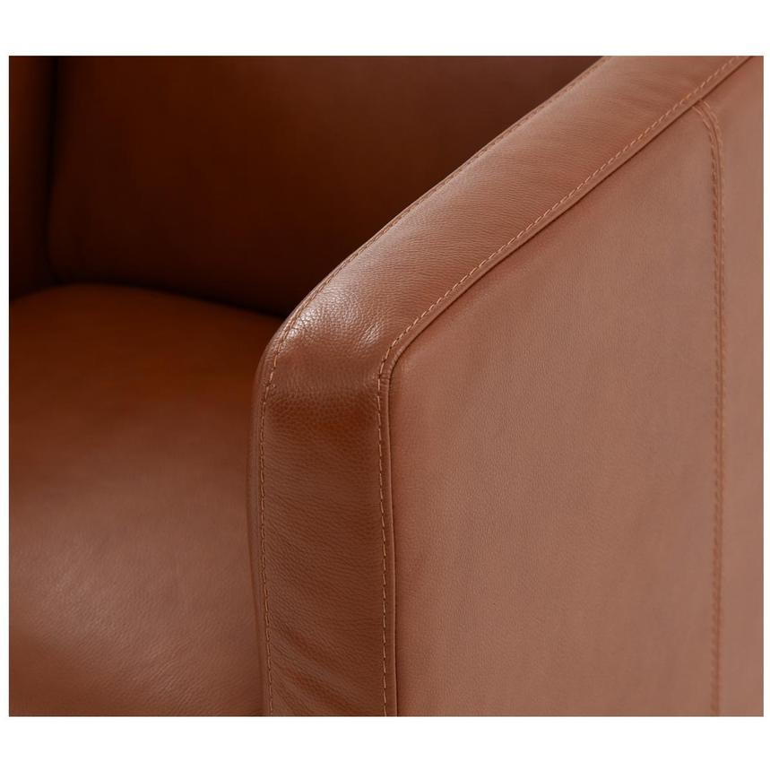 Cute Brown Leather Swivel Chair  alternate image, 8 of 8 images.