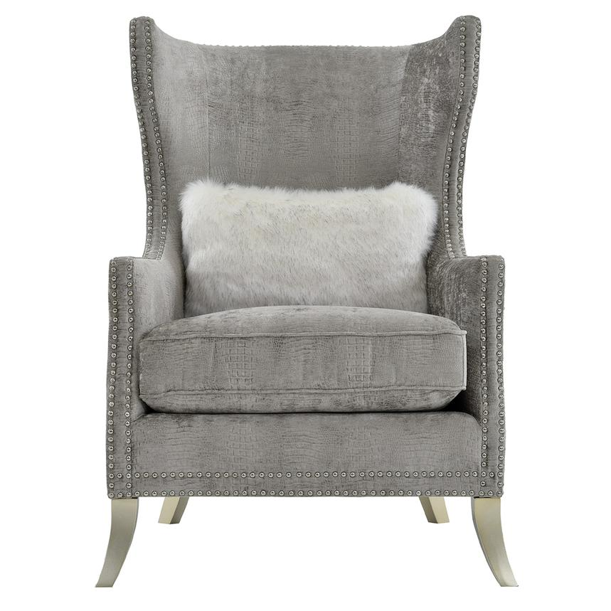 Wondrous Sonia Gray Accent Chair Caraccident5 Cool Chair Designs And Ideas Caraccident5Info