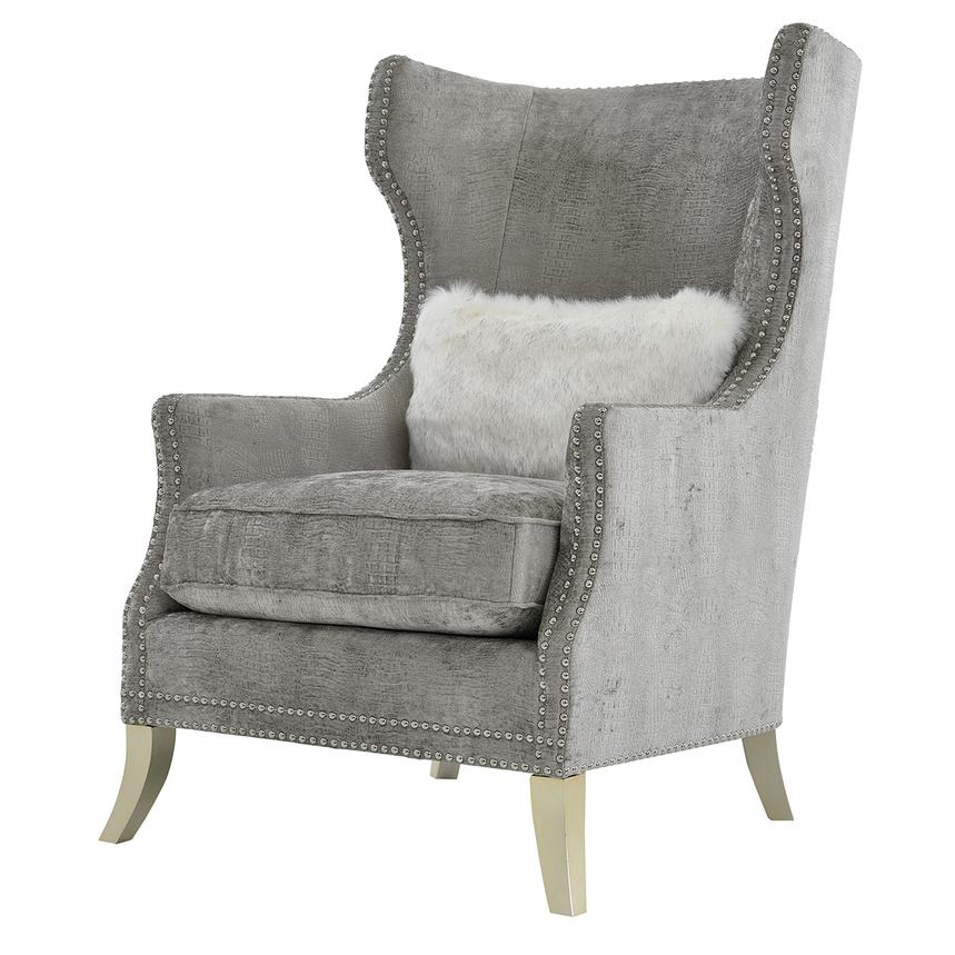 Sonia Gray Accent Chair Alternate Image, 2 Of 7 Images.