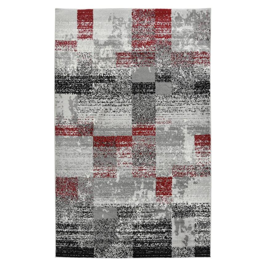 Merit Red 5' x 8' Area Rug  main image, 1 of 3 images.