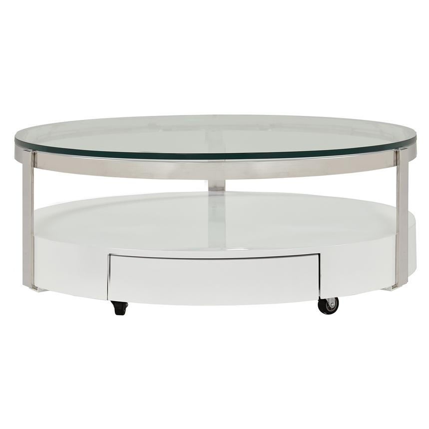 Cali Round Coffee Table w/Casters  main image, 1 of 4 images.