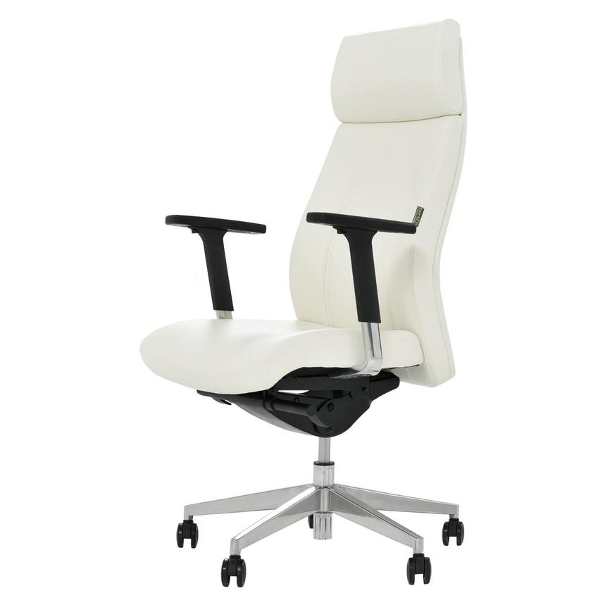 Regulo White High Back Desk Chair  alternate image, 2 of 7 images.