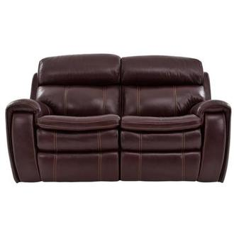 Napa Burgundy Power Motion Leather Loveseat