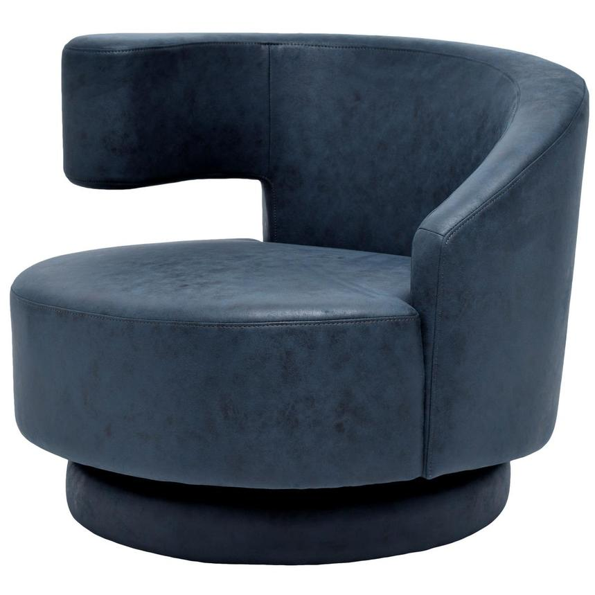 Okru Dark Blue Swivel Chair  alternate image, 2 of 6 images.