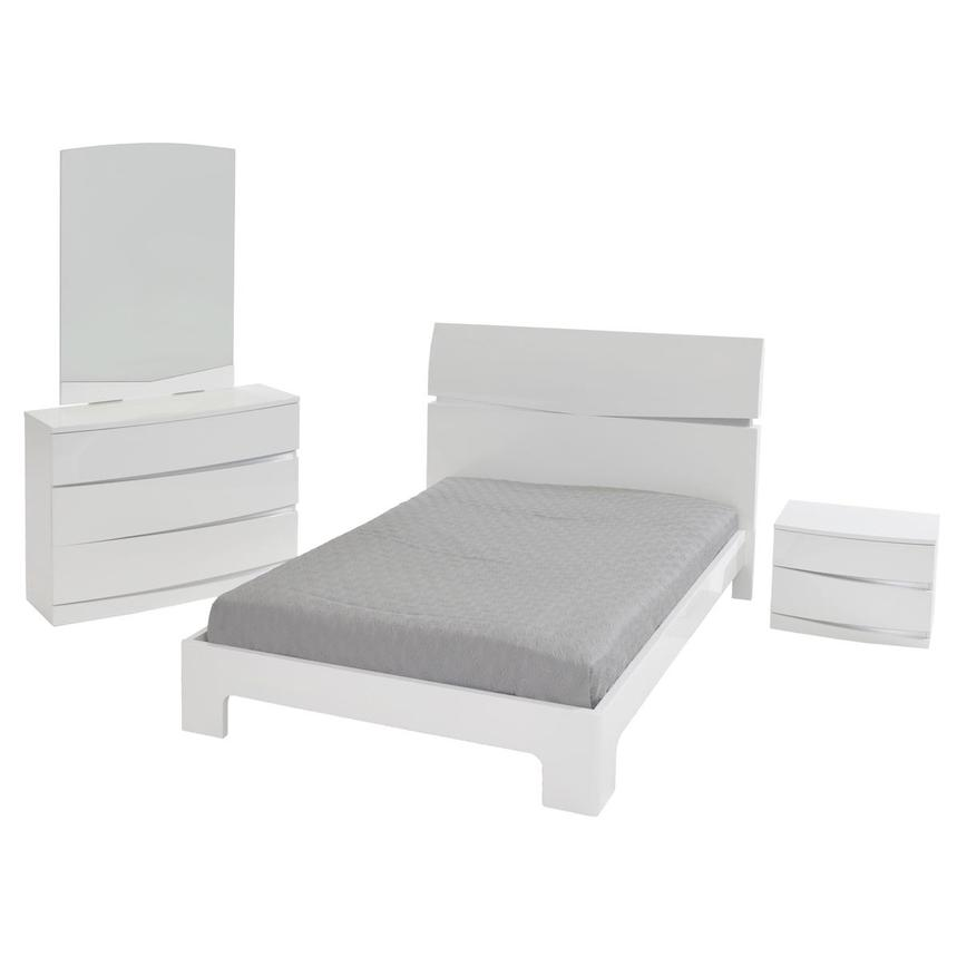 Brighton White 4-Piece Twin Bedroom Set  main image, 1 of 5 images.