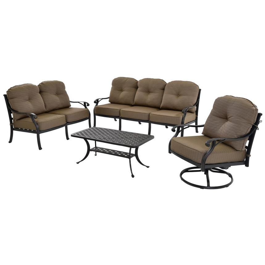 Castle Rock Brown 4-Piece Patio Set  main image, 1 of 5 images.
