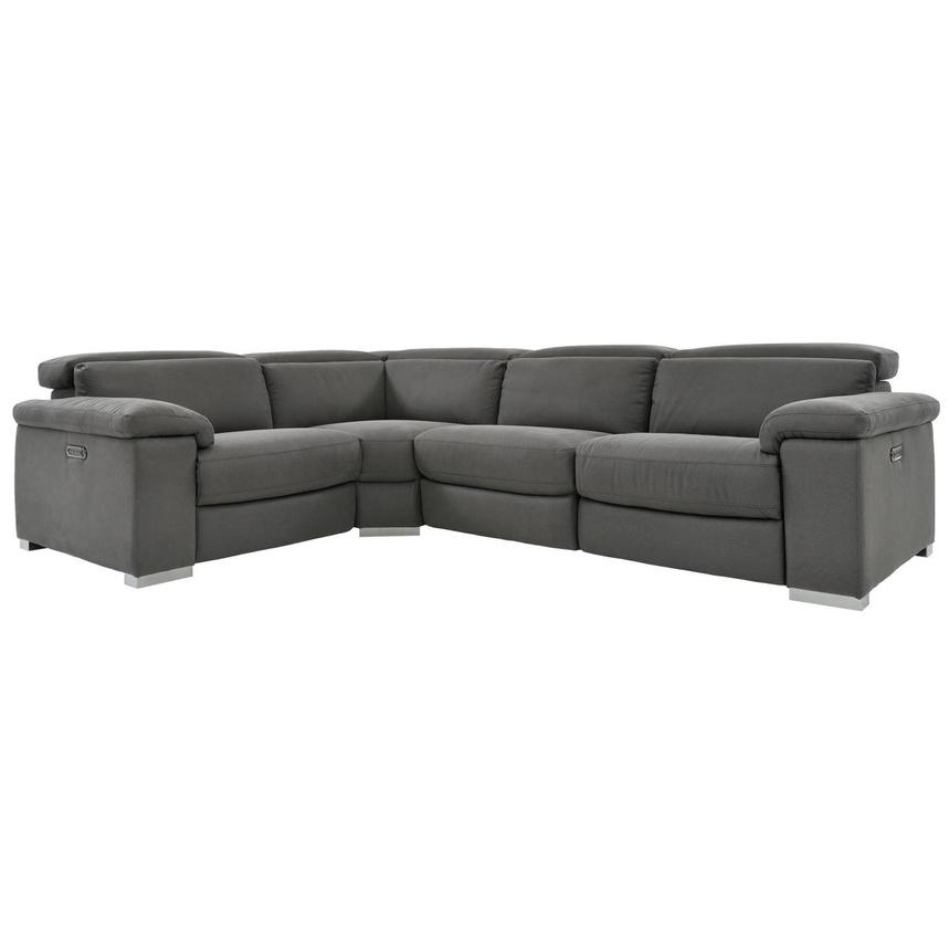 Karly Dark Gray Power Reclining Sectional  main image, 1 of 8 images.