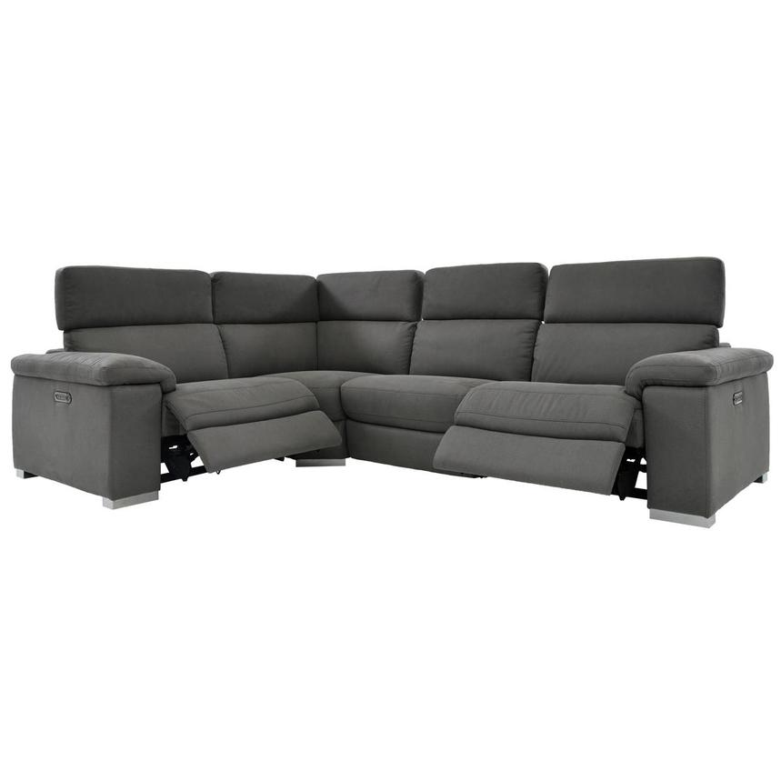 Karly Dark Gray Power Motion Sofa w/Right & Left Recliners  alternate image, 2 of 7 images.