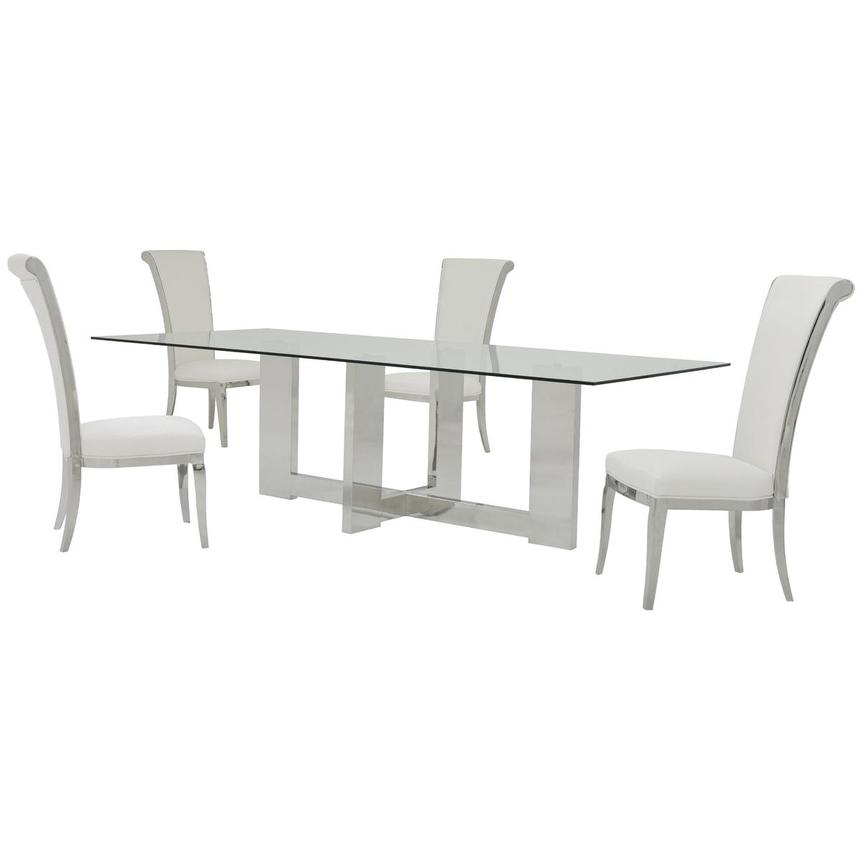 Opus/Joy White 5-Piece Dining Set  main image, 1 of 11 images.